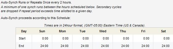 SFDC Account Upload Schedule