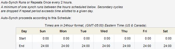 Eloqua SFDC Upload Schedule
