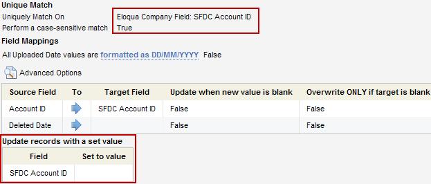 ELoqua SFDC Account Field Mapping